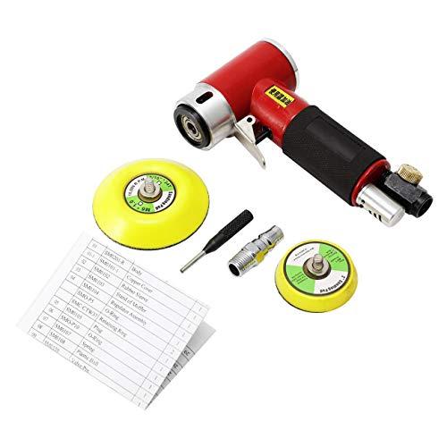"""Dyna-Living Exzenterschleifer Mini Druckluft Schleifmaschine Poliermaschine Rotationspolierer Winkelschleifer Polierer mit 2"""" 3""""Schleifteller, Hohe Geschwindigkeit, Leistungstark, bis 12000RPM"""