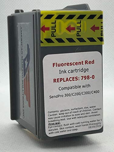 Pitney Bowes Compatible for SendPro SL-798-0 Red Fluorescent Ink Cartridge