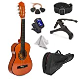 30' Wood Guitar with Case and Accessories for Kids/Girls/Boys/Beginners (Mahogany)