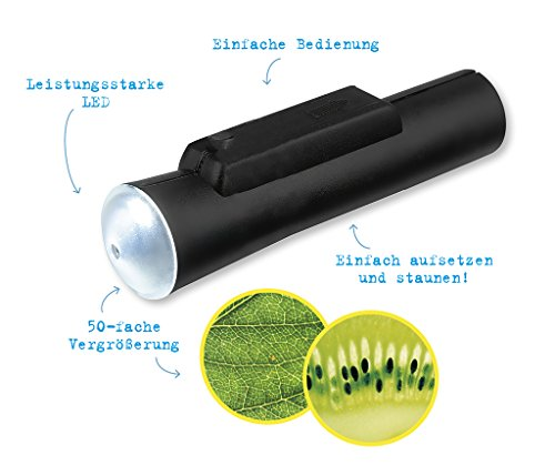 moses. Verlag GmbH 9788 Expedition Natur - Microscopio Tascabile a LED, ingrandimento 50x, Facile da Usare, Colore: Nero
