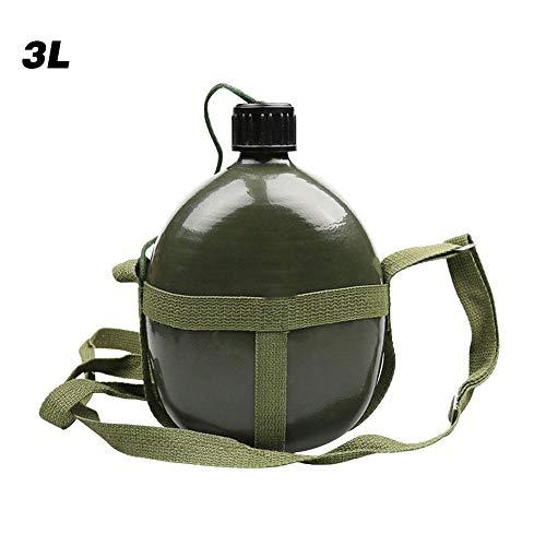 1/1,5/2 / 2,5 / 3L Wasserflasche, 87-Style Wasserkocher, Trainingskessel, Tragbares Aluminium Grosse Kapazität Militärflasche, Outdoor Sport Militärkantine