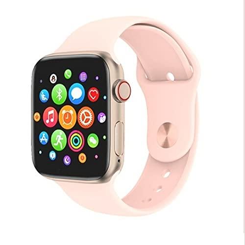 T 500 Plus Smart Watch, Reloj Inteligente con Pulsómetro, Cronómetros, Calorías, Monitor de Sueño, Podómetro para Hombre y Mujer Compatible con iOS e Android (Rosa)