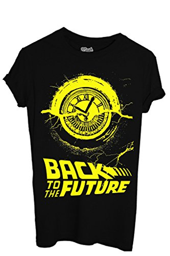 MUSH T-Shirt Ritorno al Futuro Clock Tower - Film by Dress Your Style - Bambino-XL-Nera