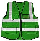 BTXX Sicurezza Giubbotti Verde ad Alta visibilità Gilet con 100% Poliestere Multi-Pocket Work Clothes Riflettente for Viaggiare di Notte Unisex Sicurezza (Colore : -, Size : -)
