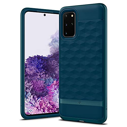 Caseology Parallax for Samsung Galaxy S20 Plus Case (2020) - 3D Pattern and Design - Aqua Green