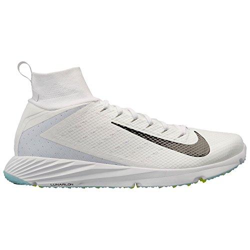 Nike Vapor Untouchable Speed Turf 2 Football Shoes (12, White/Black)
