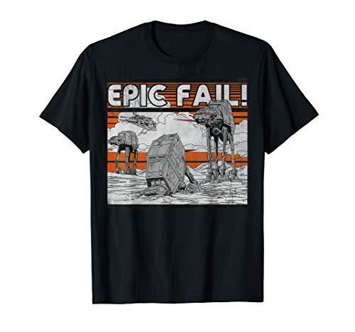 Star Wars AT-AT Walker Epic Fail Meme Graphic T-Shirt