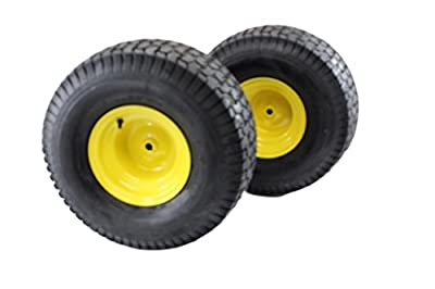 Antego Tire & Wheel (Set of 2) 20x10.00-8 Tires & Wheels 2 Ply for Lawn & Garden Mower Turf Tires