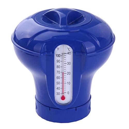 Blueborn CP-7T - Dosatore Galleggiante XL con termometro, per 4 compresse di Cloro da 200 g