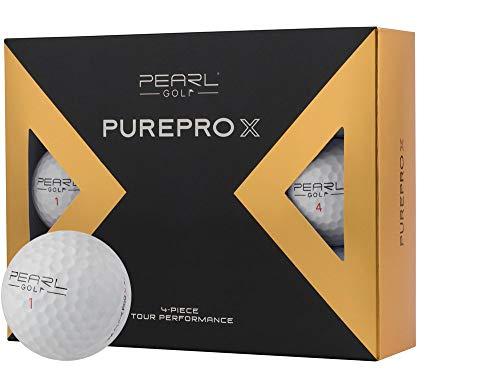 12 PearlGolf Pure Pro X - Golfbälle - 1 Dutzend - Individuell Bedruckt mit Ihrem Text Bild oder Logo