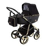 BeBe-Mobile Kinderwagen Kombikinderwagen 2in1 Kinderwagenset Babywanne Buggy Gusto Special GS85 Gold