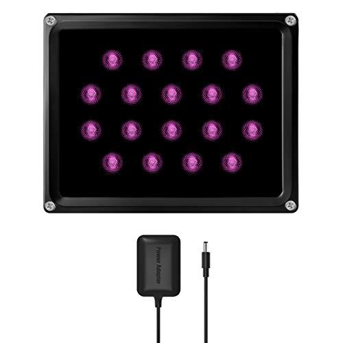 Tendelux 200ft Long Range IR Illuminator   BI18 90° LED Outdoor IR Flood Light for Security Camera (w/Power Adapter)