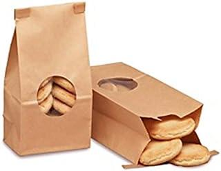 1/2 lb. Brown Kraft Customizable Tin Tie Coffee Bag with Window -25