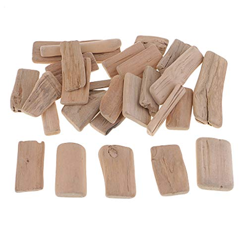 *Fenteer 250g Treibholz Holzscheiben Verzierung Holzstücke zum Dekorieren basteln für DIY Handwerk*