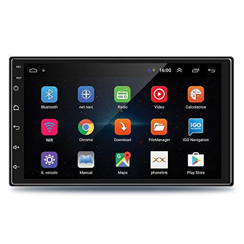 Godryft 7 Inch Full HD 1080 Touch Screen Android 9.1, Ultra IPS Display, Car Multimedia Player with 1GB RAM/16GB ROM/Bluetooth/WiFi/HiFi Audio - Supports iOS and Android