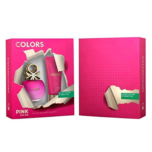 Benetton Colors Pink Kit - EDT 80ml + Body Lotion Kit