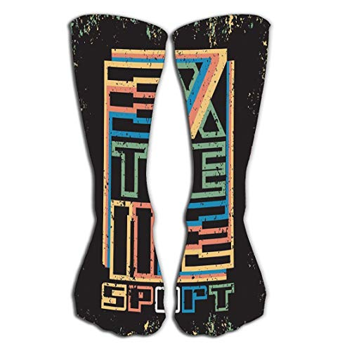 hgfyef High Stockings Athletic Compression Long Socks for Men\'s Women and Girls Extreme Athletics Typography Fashion Sports Sport Design Logo gra