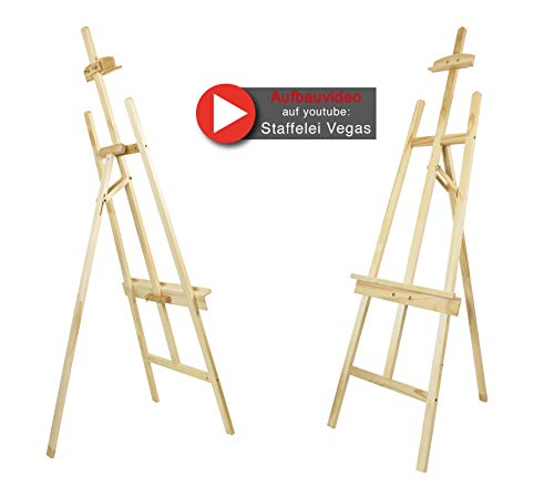 Staffelei VEGAS, für Keilrahmen bis 140 cm, Kiefernholz FSC, Qualität vom Fachhändler