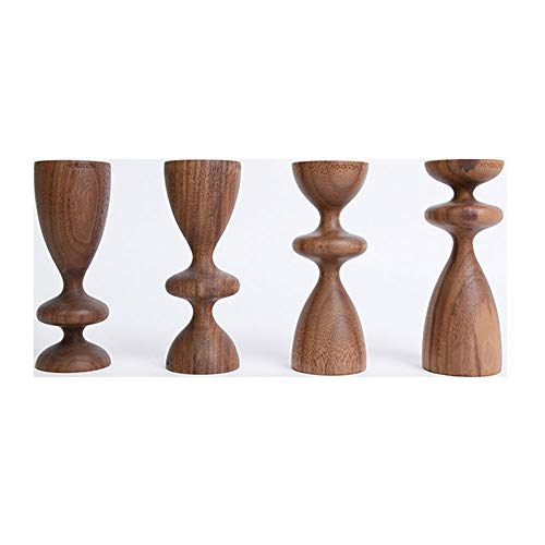 YTEVYT Candlestick Holders Wooden Candlestick European Minimalist Elegant Design For Wedding Bar Tabletop Decoration Candle Holder Decoration 5.12 Inch High Candlestick 0306