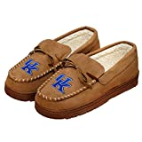 NCAA Kentucky Wildcats Mens College Team Logo Moccasin Slippers, Tan, Medium (9-10)