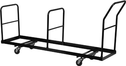 Flash Furniture Vertical Storage Folding Chair Dolly - 35 Chair Capacity, NG-DOLLY-309-35-GG, Black