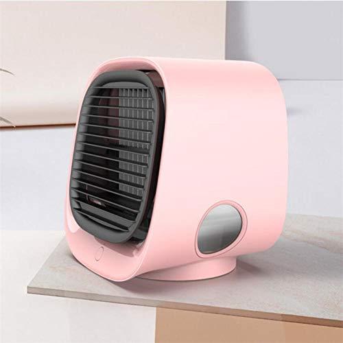 Puede mover Mini aire acondicionado portátil Humidificador multifunción Purificador USB Ventilador de aire de escritorio con tanque de agua Inicio -B_5.3x5.9x6.7inch