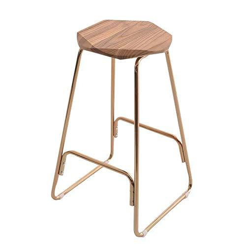 Zplyer barkruk retro eetkamerstoel moderne minimalistische hoge kruk rustieke houten barkruk de vintage voor kroegen met zwart metalen frame en industriële stijl modern 39 * 39 * 66.5cm B