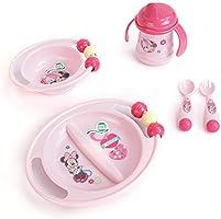 Kız Bebek Mama Takımı Bölmeli Tabak Kase Alıştırma Bardağı Çatal Kaşık Disney Minnie Trudeau