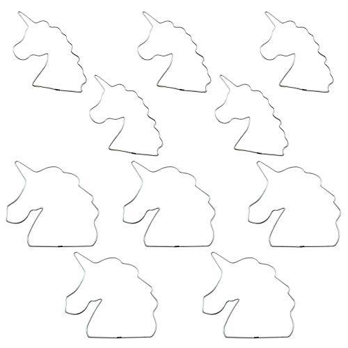 Anillos de metal para atrapasueños Manualidades con unicornio atrapasueños Anillos creativos atrapasueños para hacer manualidades como atrapasueños, guirnaldas, colgadores de plantas, tapices 10 pcs