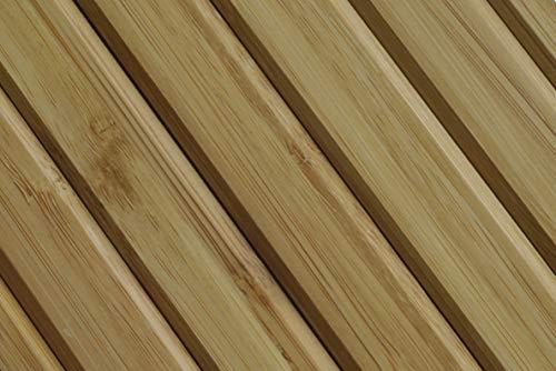Kos Design Bandeja de sofá de madera de bambú para sofá con reposabrazos, antideslizante, protector de reposabrazos, posavasos, color marrón claro
