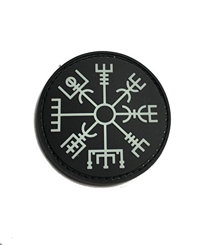 The Viking Vegvisir Rune – Glow in The Dark - Symbol of Protection During Journeys 2x2' PVC Morale Patch