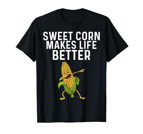 Regalo divertido del maz para los hombres y las mujeres del maz en la mazorca del traje del granjero Camiseta