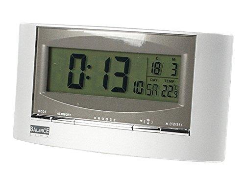 Balance Meteo He-Clock-32 wekker, LED, 0,18 kg, zwart, zilver, 95 mm, 165 mm, 60 mm