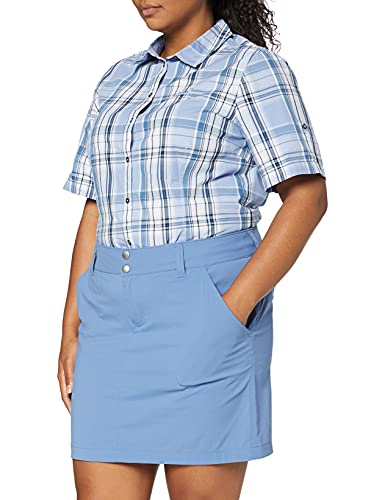 Columbia 1710551 SATURDAY TRAIL SKORT, Falda pantalón, Mujer, Nailon/Tejido de punto, Azul (Blue Dusk), Talla US: 44, EU: 46