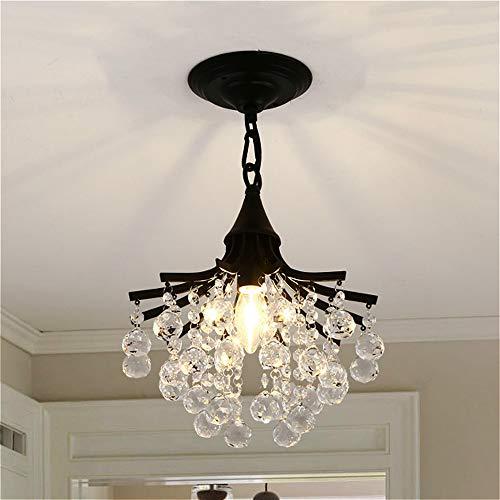 "SUSUO 1 Light Modern Contemporary Crystal Chandelier Flush Mount Ceiling Light Fixture for Bedroom, Hallway, Bar, Kitchen, Bathroom - W11"" x H12.5"""