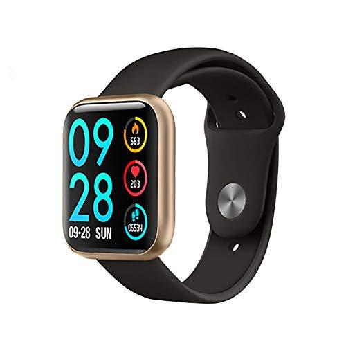 YZY activiteitstracker met 7 dagen accu en slaapmonitor, stappenteller, smartwatch voor dames en heren, Goud