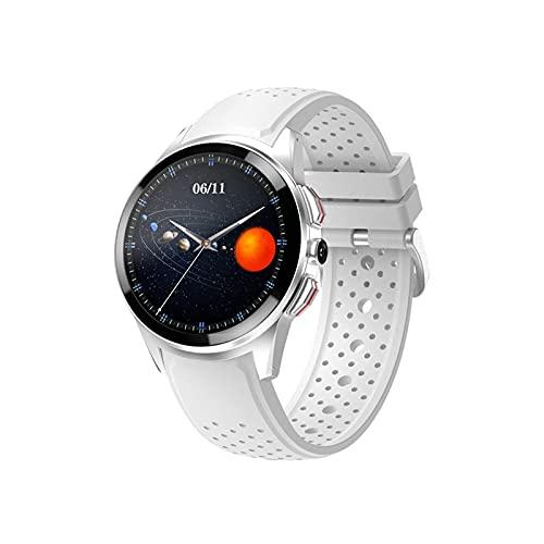 Ownlife Smart Watch 4G 1GB + 16 GB 1.39 Guarda l orologio 8MP Telecamera SIM Card Chiamata telefonata WiFi GPS SmartWatch Connect Android iOS Android 9.1 (Color : White)