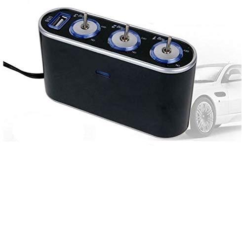 Auto Feuerzeug CARPRIE 3-Wege-Triple-Auto-Zigarettenanzünder-Splitter 12V / 24V + USB + LED Lichtschalter July6 Tropfen ShippingAPR16