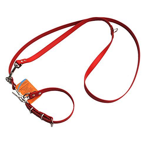 Befreiungsleine19 mm aus Beta BioThane® 2 Meter lang in Rot