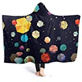 shenguang Warme Hoodie-Decke Bunte Space Hooded Throw Wrap Cape Umhang Robe Teenager Reversible...