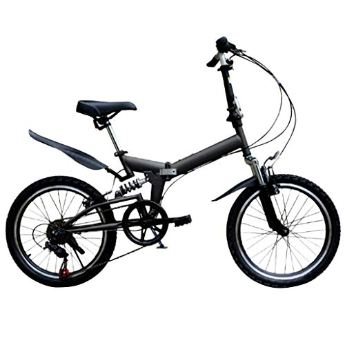 Best Bargain YANG-YI Lightweight Mini Folding Cruiser Bike,20 Inch Folding Mountain Bicycle with Dis...