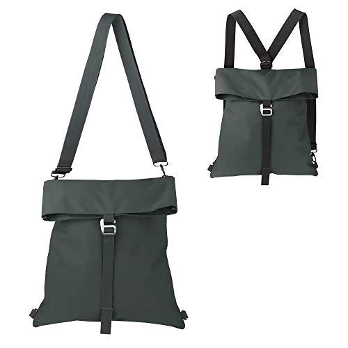 Umwandelbarer Rucksack Schultertasche für Damen & Herren, erweiterbar & wasserabweisend, dunkelgrau (Grau) - OB18004 Dark Grey