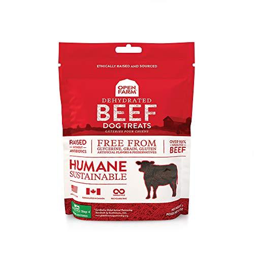 Open Farm Dehydrated Beef Grain-Free Dog Treats, 100% Grass-Fed Beef...