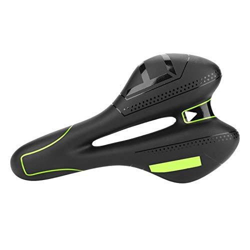 KUIDAMOS Cómodo Asiento de Bicicleta Cojín Bike Racing Sillín Duradero Exquisita Mano de Obra Resistente al Desgaste para Deportes Escolares para Montar en senderos(Green)