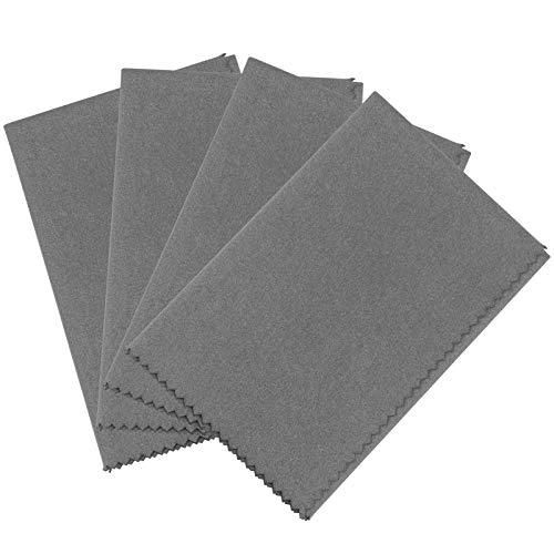 NP Gun Cleaning Cloth Rags 4PCS - 12'x12' Microfiber Gray...