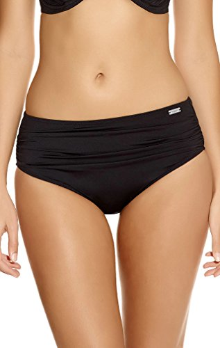 "Fantasie """"Versailles"""" Deep Gathered Control Swim Brief #5752,Black,Large,"