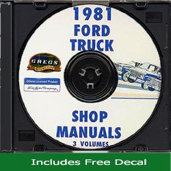 1981 Ford Truck Shop Service Repair Manual on CD 81 (with Decal)