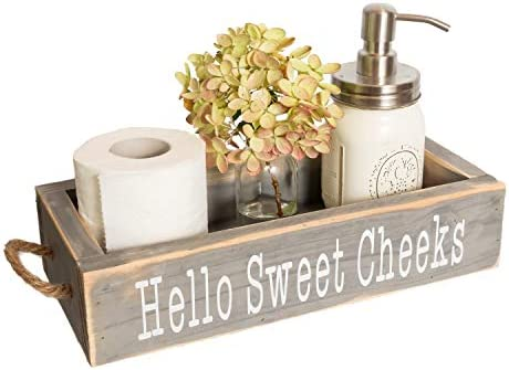 Nice Butt Bathroom Decor Box 2 Sides with Funny Sayings Funny Toilet Paper Holder Perfect for product image