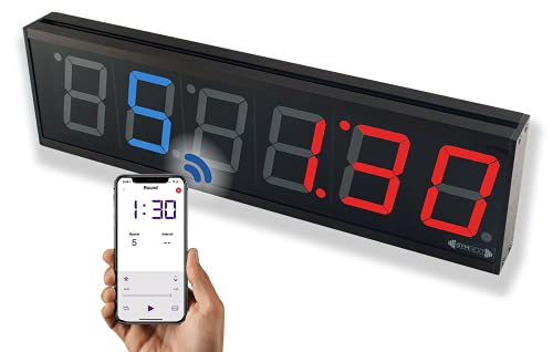 """GymNext Flex Timer - Gym Edition - Bluetooth App-Controlled Interval Timer with Large 4.0"""" Digits..."""