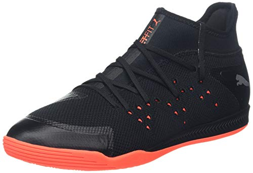 Puma Sharp Xt Netfit 1', Scarpe da Calcetto Indoor Uomo, Nero Black-Silver-Nrgy Red, 47 EU